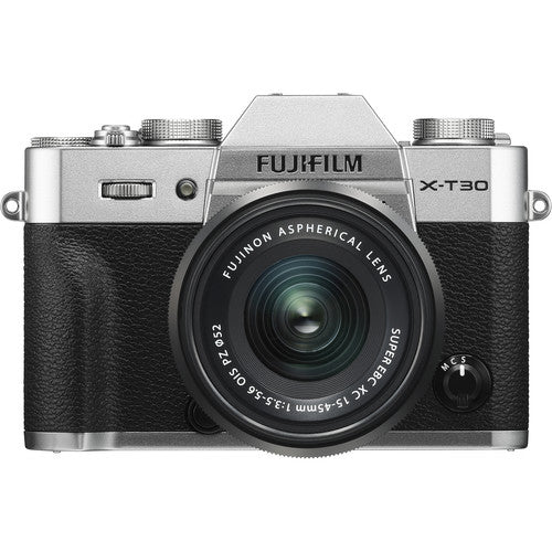 Fujifilm X-T30 Mirrorless Camera with 15-45mm - Silver