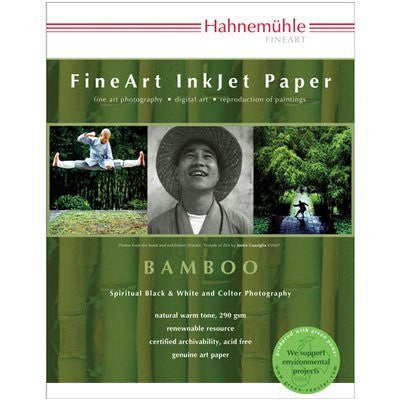 "Hahnemuhle Fine Art Bamboo Fiber Natural White, Smooth Warm Tone Inkjet Paper, 290gsm, 8.5x11"", 25 Sheets"
