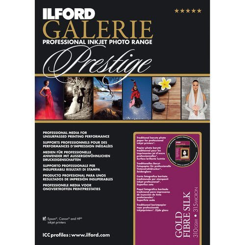 Ilford GALERIE Prestige Gold Fibre Silk Sheet Pack - Print-Scan-Present - Ilford - Helix Camera
