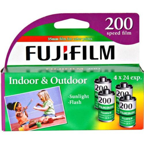 FujiFilm ISO 200 35mm Color Print Film - 24 Exposures, 4 Pack - Photo-Video - Helix Camera & Video - Helix Camera