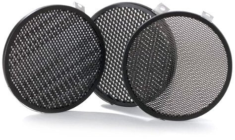 Bowens BW-1864 Set of 3 Disc Grids, 1/8-Inch, 3/16-Inch, 1/4-Inch Fits BW-1863 and BW-1882 (Black) - Lighting-Studio - Bowens - Helix Camera