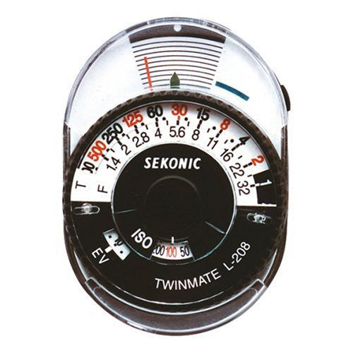 Sekonic L-208 Twin Mate Light Meter (Black/White) - Lighting-Studio - Sekonic - Helix Camera