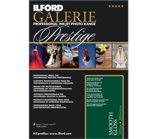 Ilford GALERIE Prestige Smooth Gloss, 100 Sheet Pack - Print-Scan-Present - Ilford - Helix Camera
