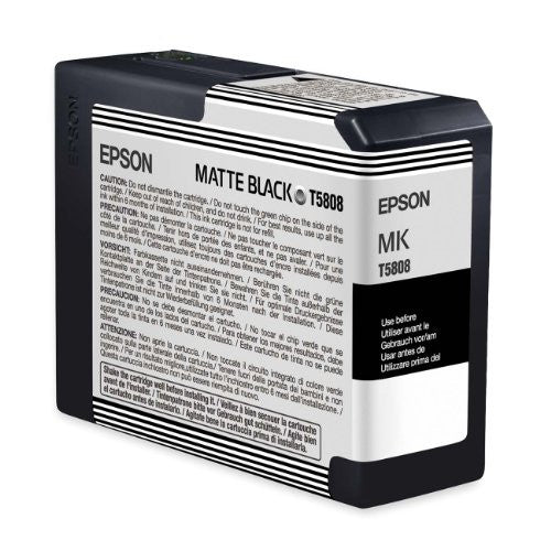 Epson UltraChrome K3 Ink Cartridge - 80ml Matte Black (T580800)