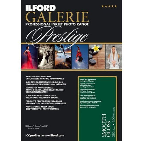 Ilford GALERIE Prestige Smooth Gloss, 25 Sheet Pack - Print-Scan-Present - Ilford - Helix Camera