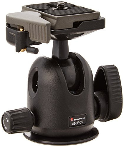 Manfrotto 496RC2 Ball Head with Quick Release Replaces Manfrotto 486RC2 - Lighting-Studio - Manfrotto - Helix Camera
