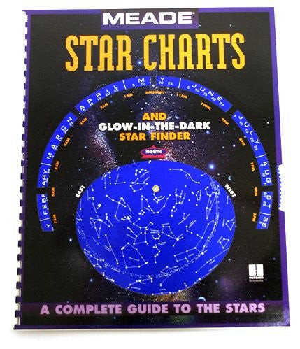 Meade 91102 Meade Star Chart/Flashlight Set: 21 Page Star Chart Book/Planisphere and Red/White 16 LED Flashlight - Telescopes - Meade - Helix Camera