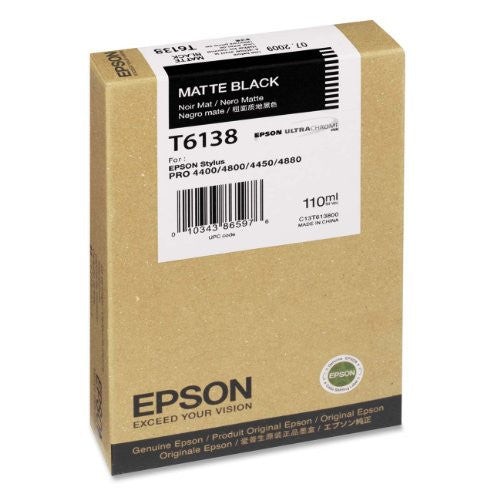 Epson T613800 UltraChrome K3 110 ml Matte Black Cartridge (T613800) - Print-Scan-Present - Epson - Helix Camera