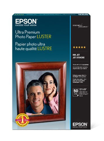 Epson Ultra Premium Photo Paper LUSTER (13x19 Inches, 50 Sheets) (S041407) - Print-Scan-Present - Epson - Helix Camera