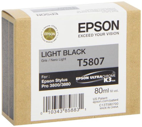 Epson UltraChrome K3 Ink Cartridge - 80ml Light Black (T580700) - Print-Scan-Present - Epson - Helix Camera
