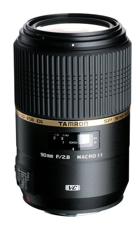 Tamron Canon SP 90mm F/2.8 Di VC USD 1:1 Macro w/ hood AFF004C700 - Photo-Video - Tamron - Helix Camera