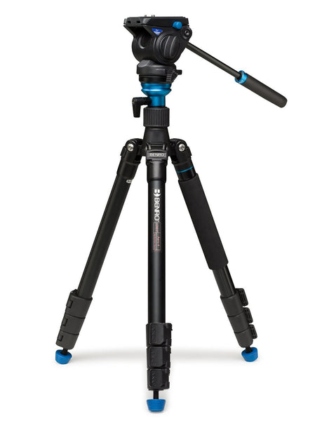 Benro A2883FS4 Aero4 Travel Angel Video Tripod Kit (Black) - Photo-Video - Benro - Helix Camera
