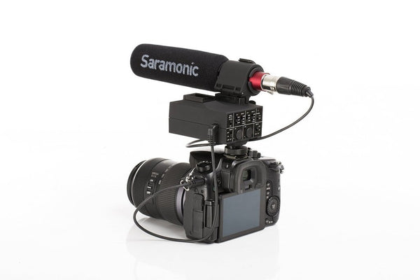 Saramonic MixMic 2-Channel XLR On-Camera Audio Mixer with SR-NV5 Shotgun Mic Kit for DSLR, Mirrorless & Video Cameras