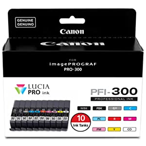 Canon PFI-300 Lucia PRO Ink, 10 Ink Tanks
