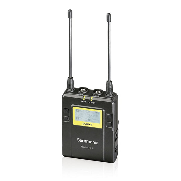 Saramonic UwMic9 RX9+TX9 UHF Wireless Lavalier Microphone System with Portable Dual-Channel Camera-Mountable Receiver