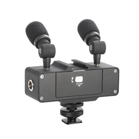 Saramonic CaMixer On-Camera Audio Adapter & Mixer with Dual Microphones & XLR for DSLR, Mirrorless & Video Cameras
