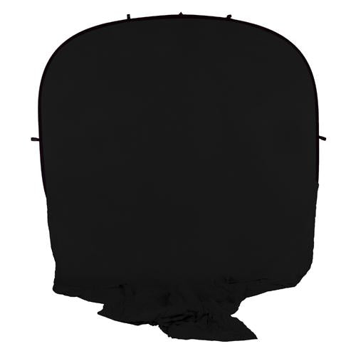 Fotodiox Collapsible Portable Backdrop Kit with 2.1m Stand, 8x14' Muslin Black Background