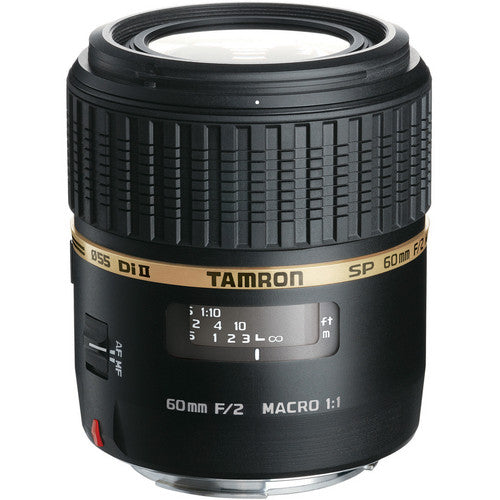 Tamron Nikon SP 60mm F/2 Di-II LD (IF) 1:1 Macro w/ hood AFG005NII700 - Photo-Video - Tamron - Helix Camera