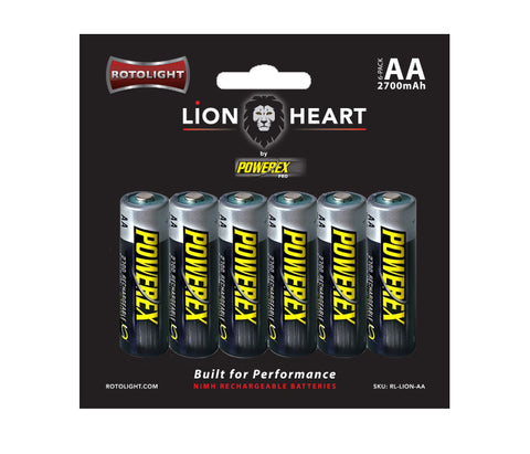 Rotolight Lionheart AA Rechargeable Batteries by Powerex PRO (6 pack)