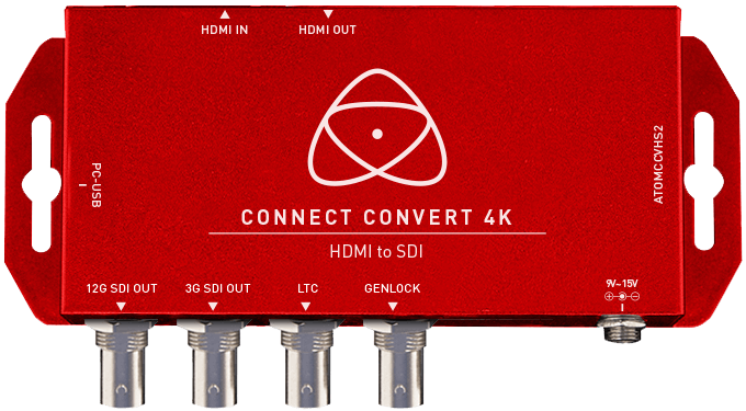 Atomos Connect Convert 4K | HDMI to SDI w Scale/Overlay