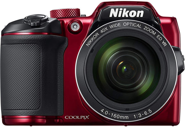 Nikon Coolpix B500 Digital Camera (Red)