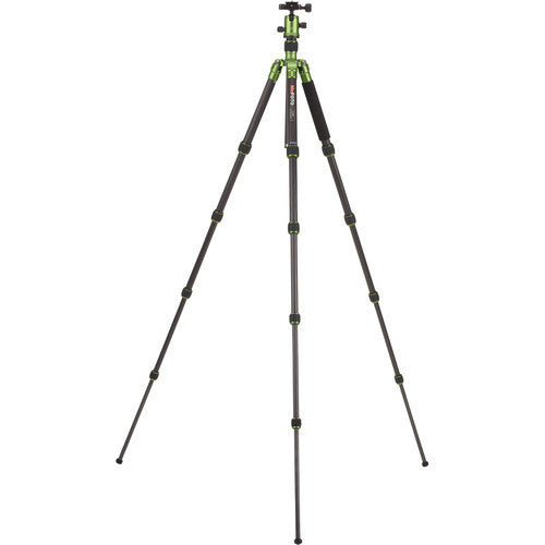MeFoto Roadtrip Carbon Fiber Travel Tripod Kit - Green