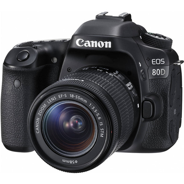 Canon EOS 80D EF-S 18-55mm f/3.5-5.6 IS STM Kit - Photo-Video - Canon - Helix Camera