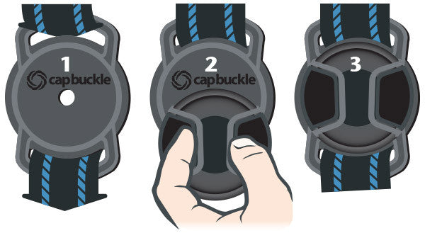 Capbuckle Lens Cap Holder 55mm-52mm-43mm - Photo-Video - ExpoImaging - Helix Camera
