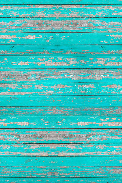 Savage Floor Drop - Distressed Teal Wood - 4'x5'