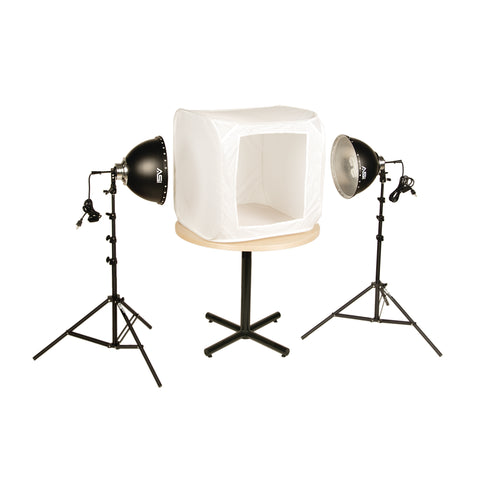 Smith-Victor FLB-2 KIT – 2-Light Fluorescent 700-Watt 28 IN. Light Tent Kit