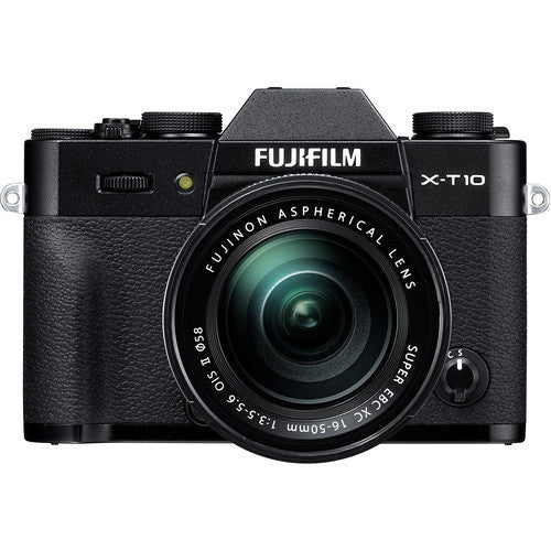 FujiFilm X-T10 Mirrorless Camera with XC 16-50mm f3.5-5.6 & XC 50-230mm f4.5-6.7 OIS Lens Kit - Black