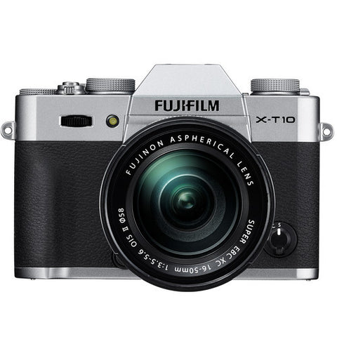 FujiFilm X-T10 Mirrorless Camera with XC 16-50mm f3.5-5.6 & XC 50-230mm f4.5-6.7 OIS Lens Kit - Silver