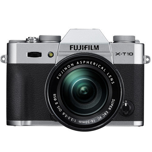 FujiFilm X-T10 Mirrorless Camera & XC 16-50mm f3.5-5.6 Lens Kit - Silver