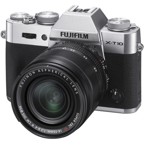 FujiFilm X-T10 Mirrorless Camera & XF 18-55mm f2.8-4.0 Lens Kit - Silver
