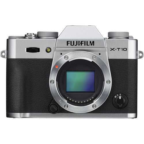 FujiFilm X-T10 Mirrorless Camera Body Only - Silver