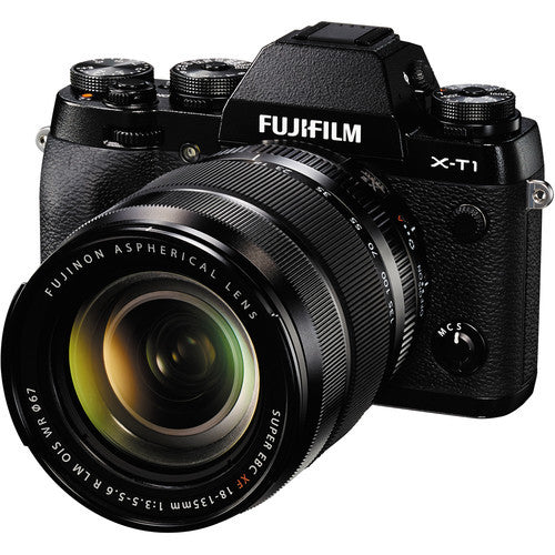 FujiFilm X-T1 Mirrorless Camera with XF 18-135mm Lens Kit - Black