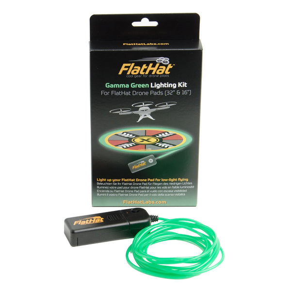 FlatHat Lighting Kit for Collapsible Drone Pads - Gamma Green