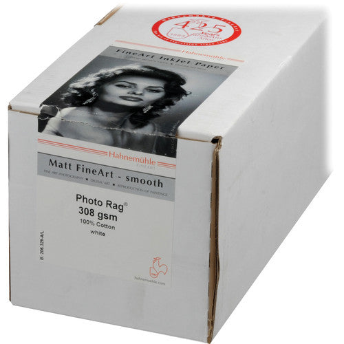 "Hahnemuhle Photo Rag 308gsm - 24"" x 39' Roll, 3"" core - Print-Scan-Present - Hahnemuhle - Helix Camera"