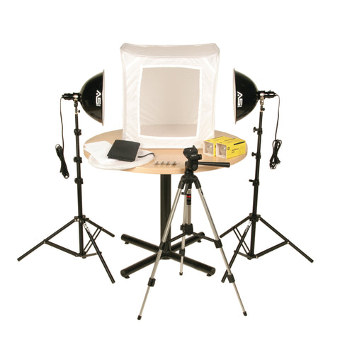 Smith-Victor KLB-2, Two Light 1000 Total watt Photoflood Light Tent Kit