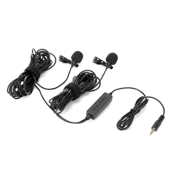 Saramonic LavMicro 2M Dual Lavalier Microphones for DSLRs, Mirrorless, Video Cameras, Smartphones, Tablets & more