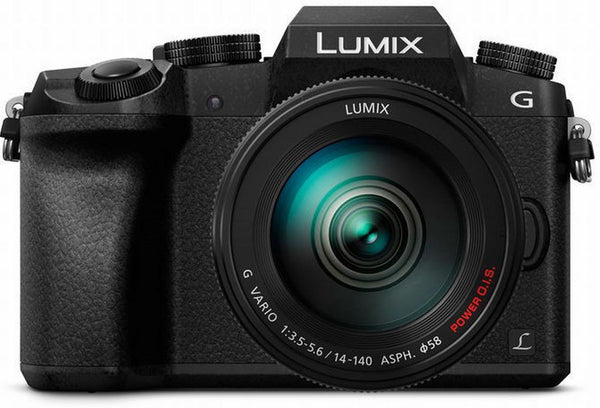 Panasonic Lumix DMC-G7 Mirrorless Micro Four Thirds Digital Camera with 14-140mm Lens (Black) - Photo-Video - Panasonic - Helix Camera