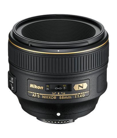 Nikon AF-S NIKKOR 58mm f/1.4G - Photo-Video - Nikon - Helix Camera