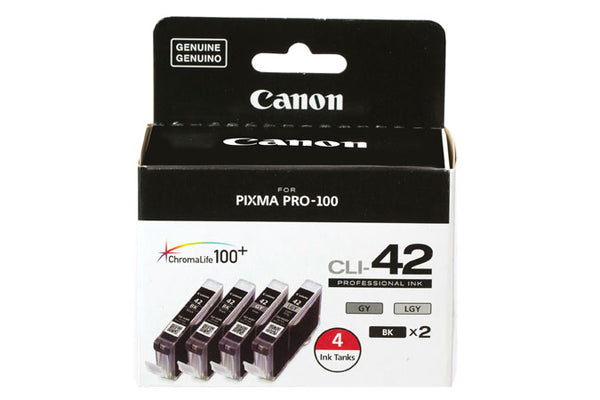 Canon CLI-42 Black & Gray Value Set