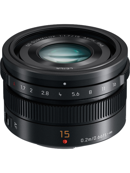 Panasonic LUMIX G Leica DG Summilux 15mm f/1.7 ASPH. Lens (Black) - Photo-Video - Panasonic - Helix Camera