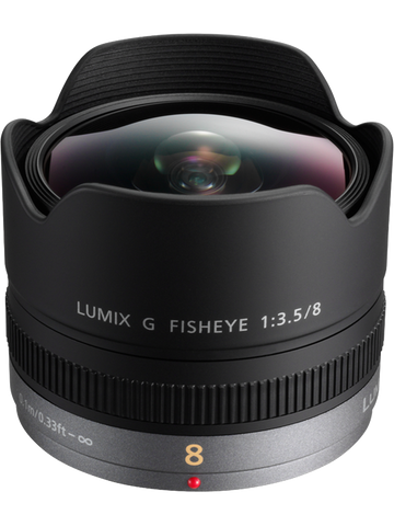 Panasonic Lumix G Fisheye 8mm F3.5 Lens - Photo-Video - Panasonic - Helix Camera
