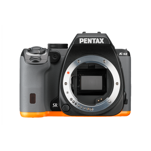 Pentax K-S2 with 2-Lens Kit (Black & Orange)
