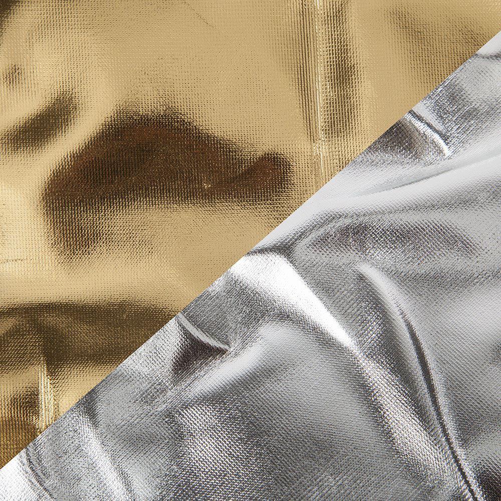"Studio-Assets 55x78"" Silver/Gold Fabric for Folding Light Panel"