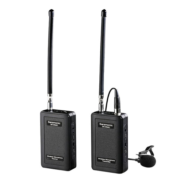SARAMONIC SR-WM4C VHF WIRELESS LAVALIER MICROPHONE SYSTEM WITH PORTABLE CAMERA-MOUNTABLE RECEIVER