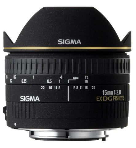 Sigma 15mm F2.8 EX DG Diagonal Fish-Eye (Canon) - Photo-Video - Sigma - Helix Camera
