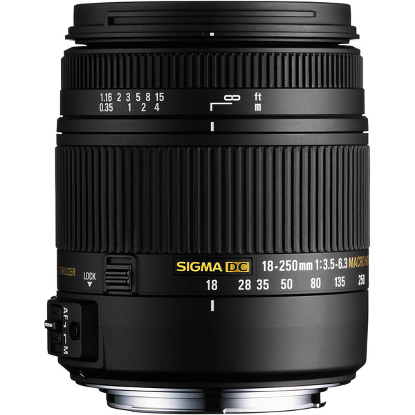 Sigma 18-250mm F3.5-6.3 DC Macro OS HSM (Nikon) - Photo-Video - Sigma - Helix Camera